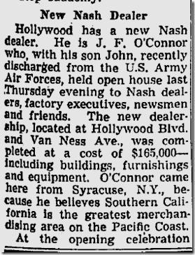 Aug. 18, 1946, Nash Dealership