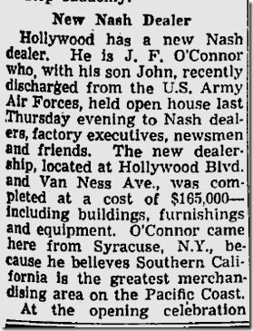 Aug. 18, 1946, Nash Dealership