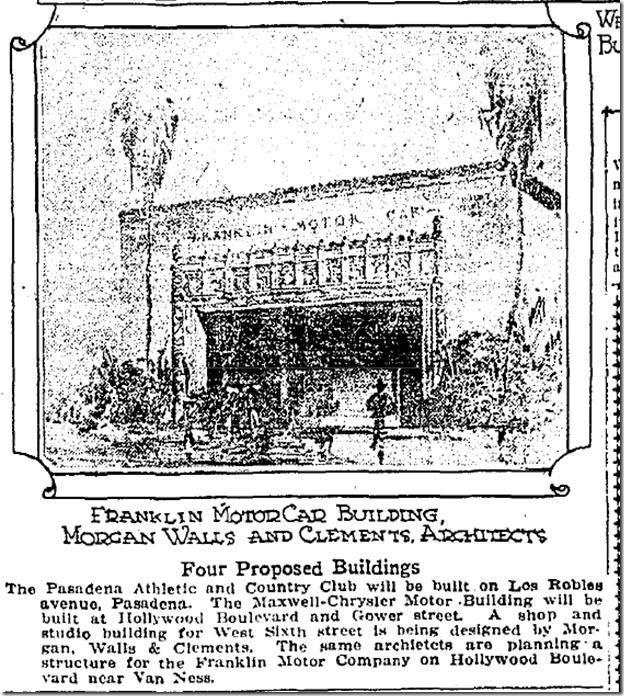 Dec. 7, 1924, Franklin Dealership