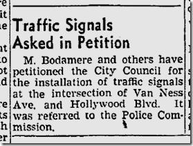 May 31, 1941, Hollywood and Van Ness