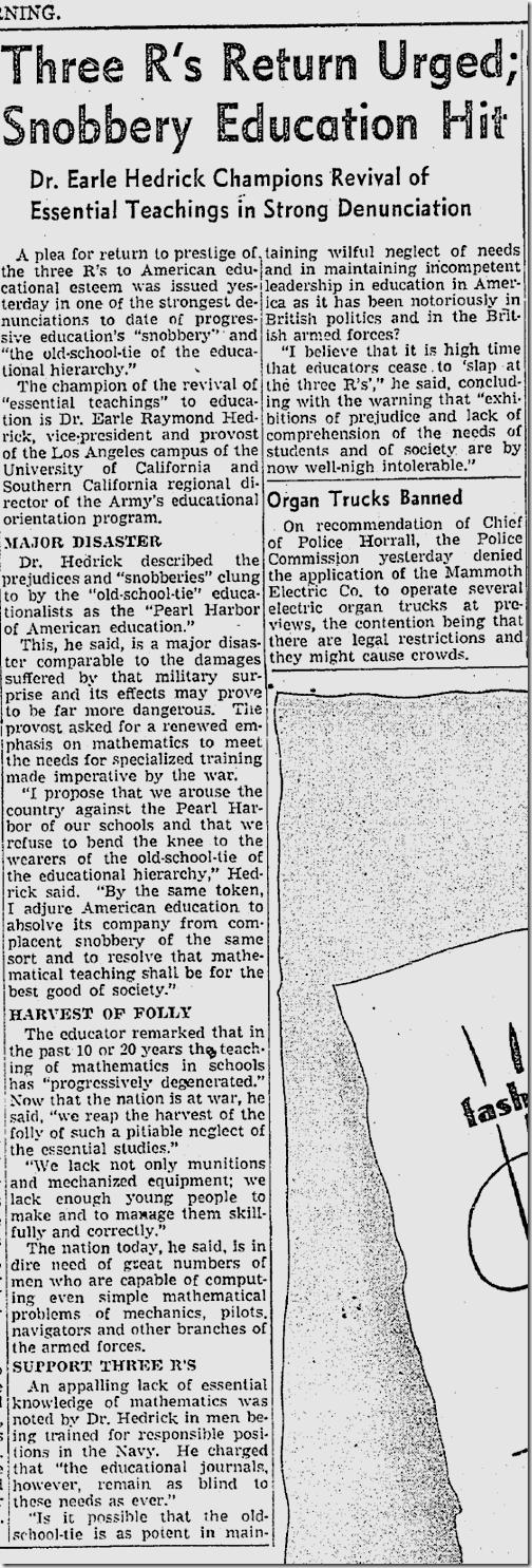 Feb. 25, 1942, Education