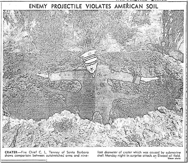 Feb. 25, 1942, Bomb Crater