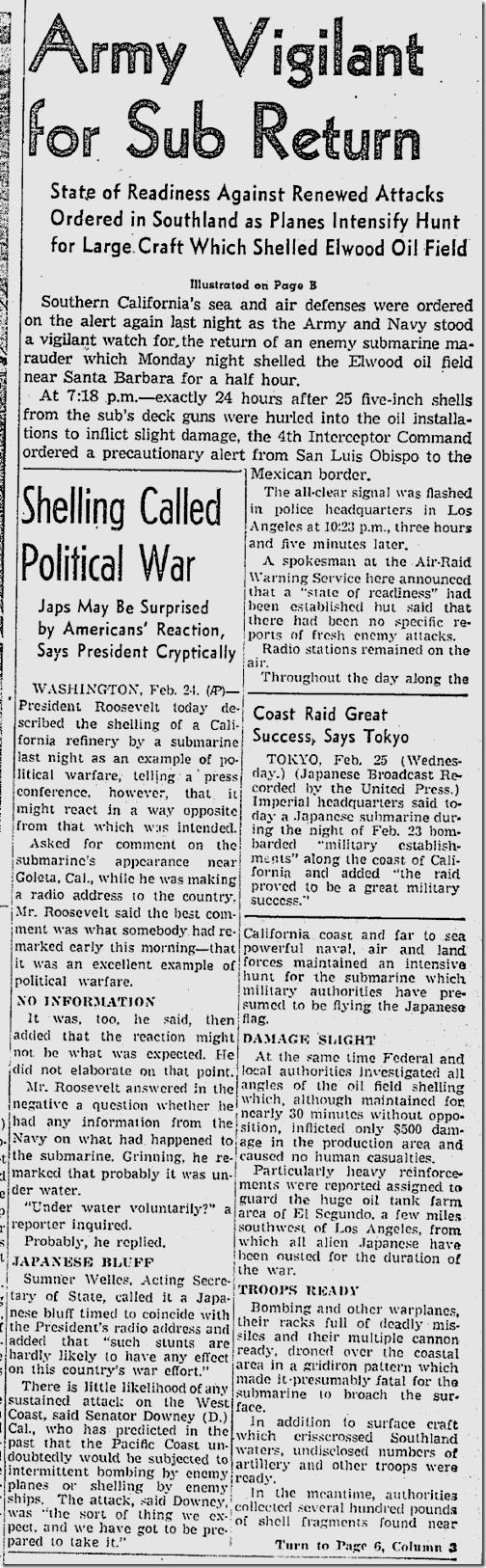 Feb. 25, 1942, Sub Return