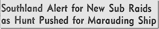 Feb. 25, 1942, Sub Raids