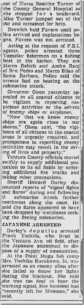 Feb. 25, 1942, Sub Raid
