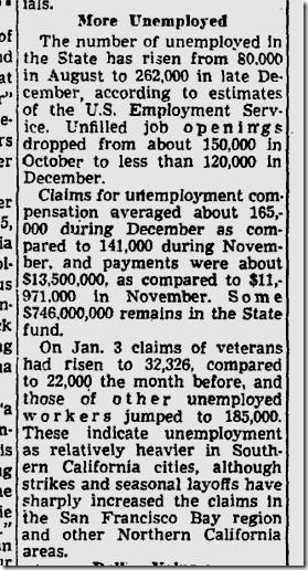 Jan. 13, 1946, Unemployment
