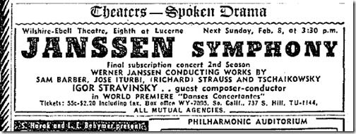 Feb. 6, 1942, Stravinsky