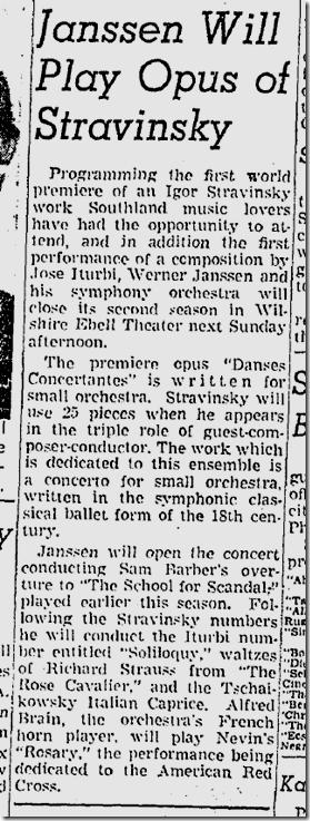 Feb. 1, 1942, Stravinsky