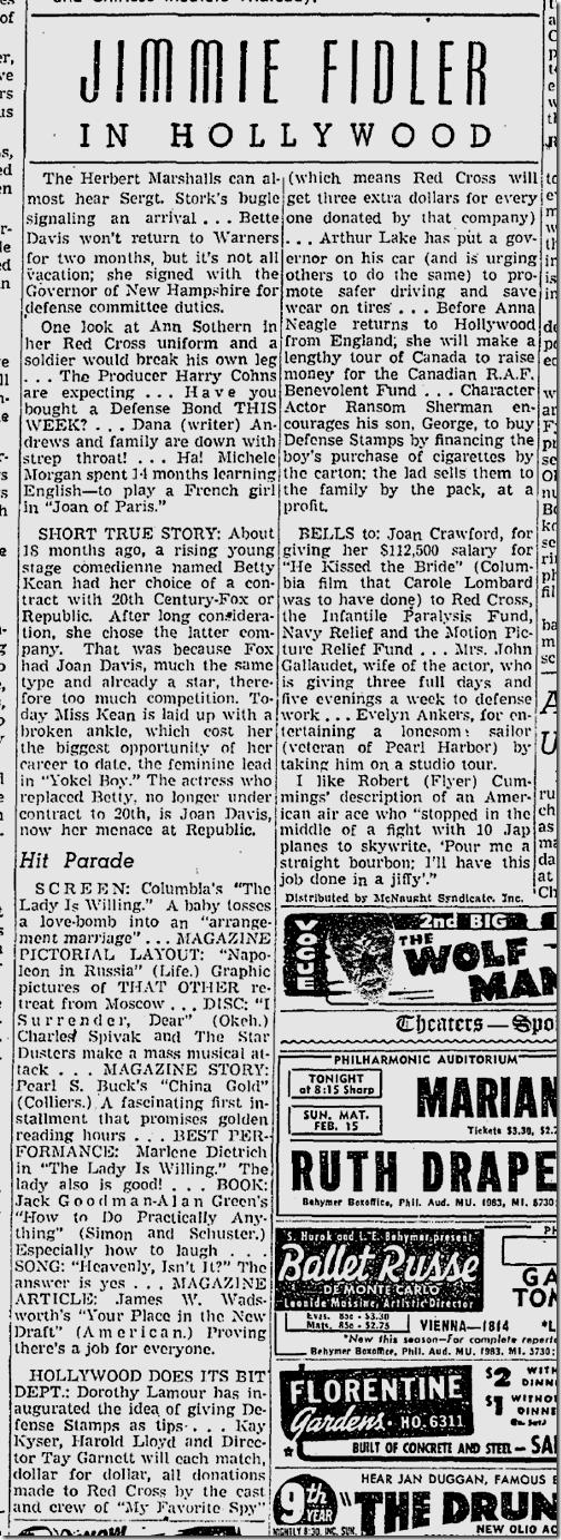 Feb. 3, 1942, Jimmie Fidler