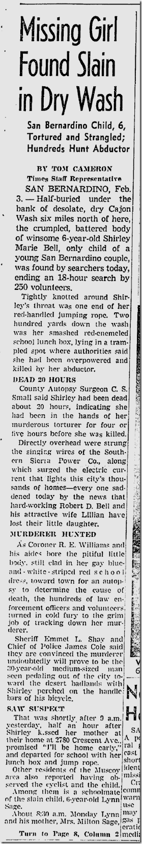 Feb. 4, 1942, Girl Strangled