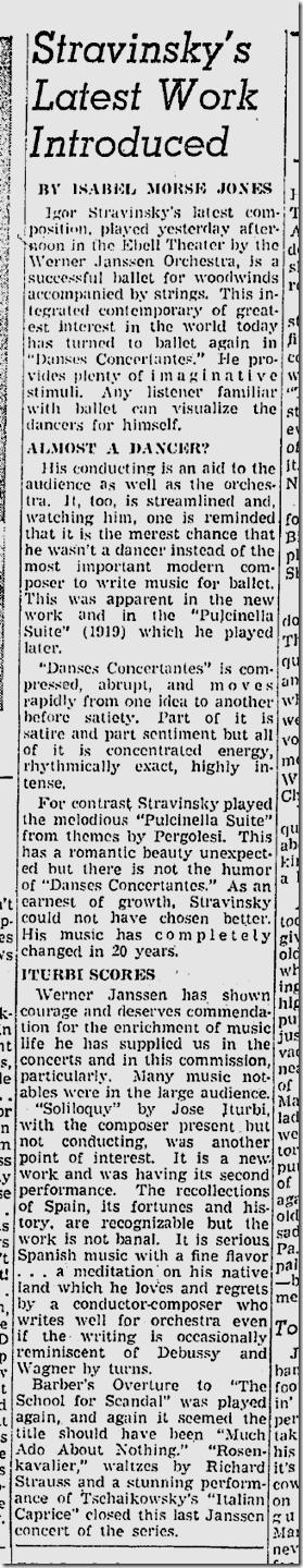Feb. 9, 1942, Stravinsky