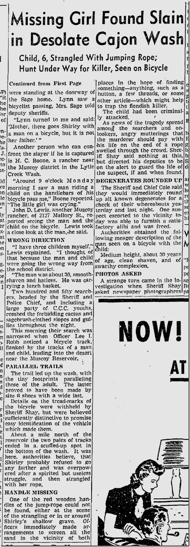 Feb. 4, 1942, Missing Girl