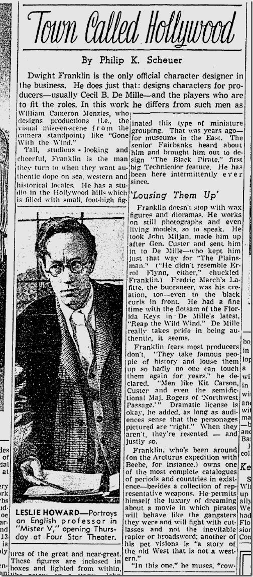 Feb. 8, 1942, Town Called Hol