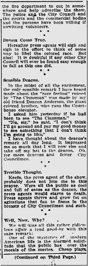 Feb, 11, 1915, The Clansman