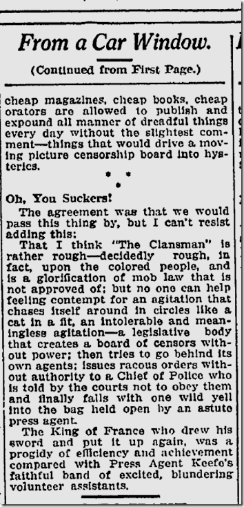 Feb. 11, 1915, The Clansman
