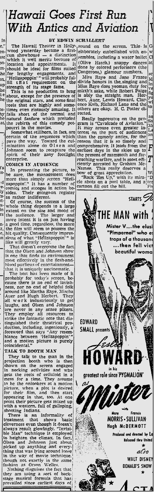 Feb. 12, 1942, Hellzapoppin