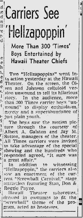 Feb. 24, 1942, Hellzapoppin