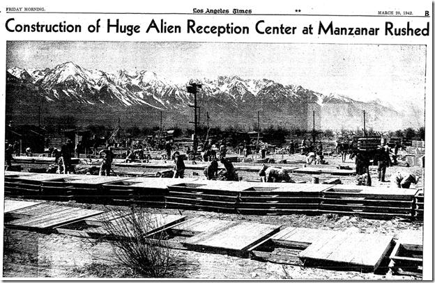 March 20, 1942, Manzanar
