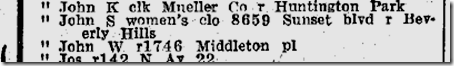 1939 Directory, John S. Potts