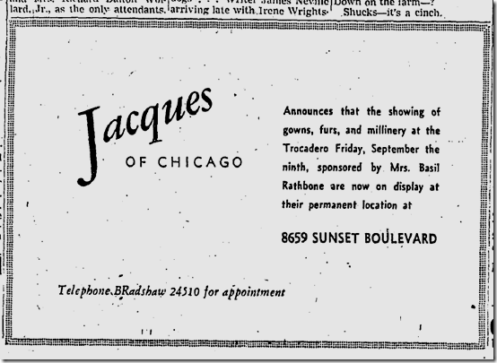 Sept. 13, 1938, Jacques of Chicago