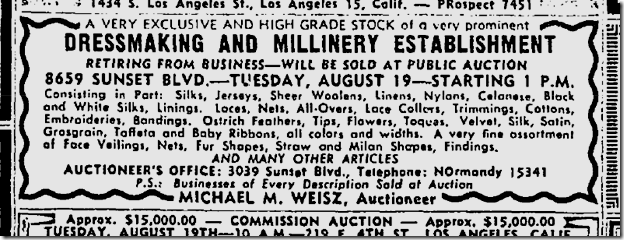 Aug. 17, 1947, Jacques of Chicago Retires