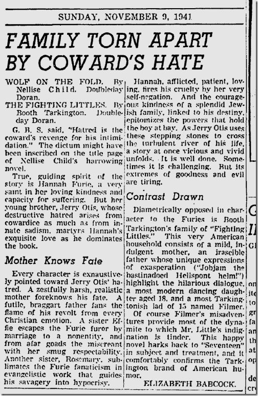 Nov. 9, 1941, Wolf on the Fold