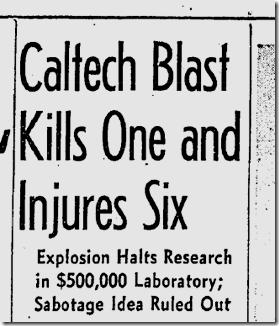 March 28, 1942, Caltech Blast
