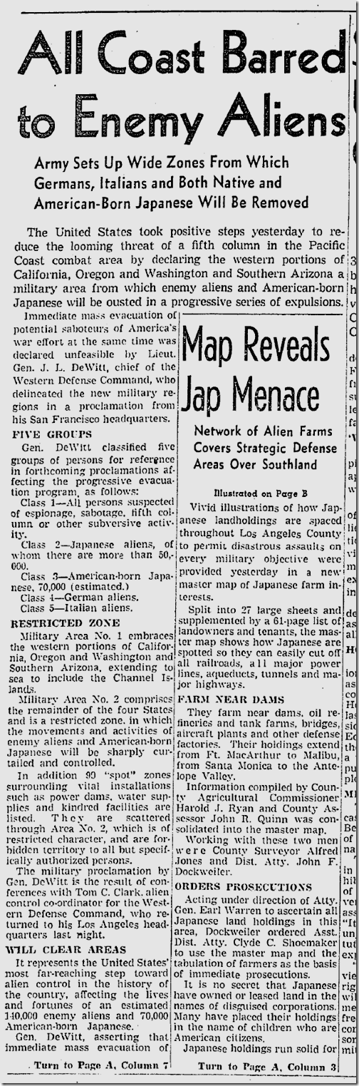 March 4, 1942, Sabotage Plots