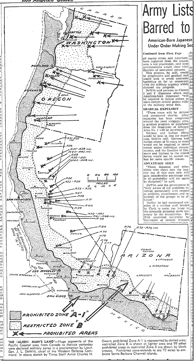 March 4, 1942, Map