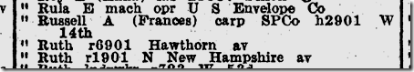 1942 City Directory Russell Swanson