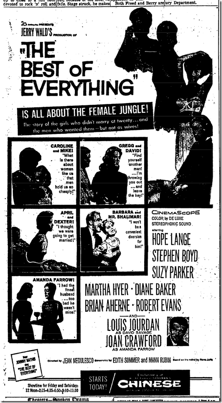 Oct. 9, 1959: The Best of Everything