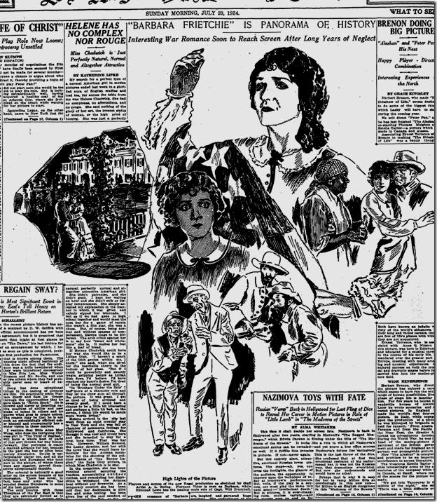 July 20, 1924: Barbara Frietchie