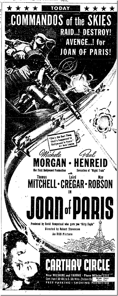 April 16, 1942, Joan of Paris