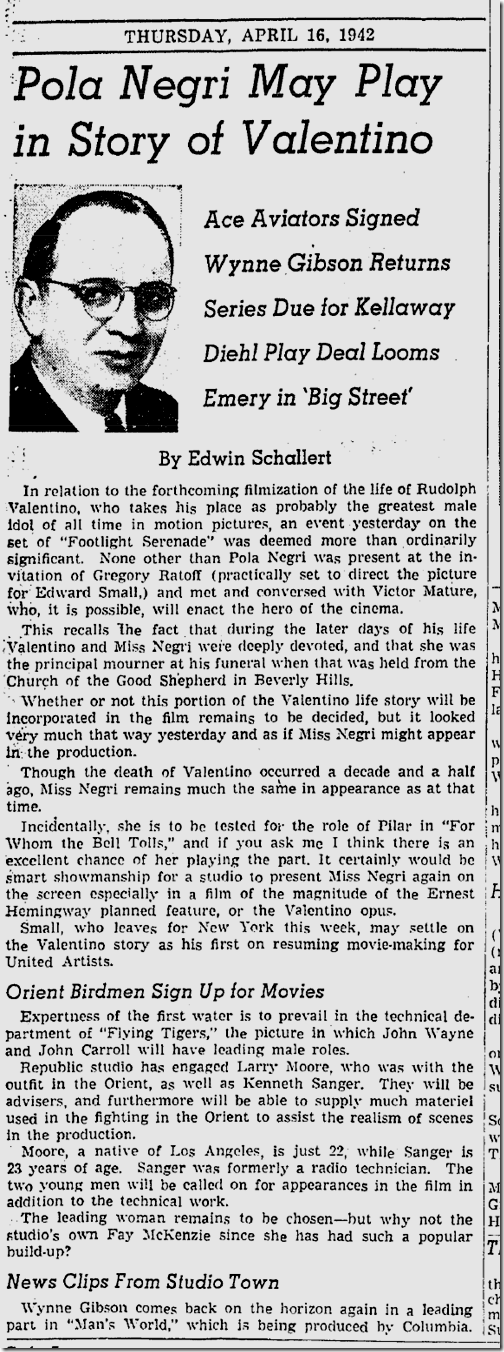 April 16, 1942, Edwin Schallert