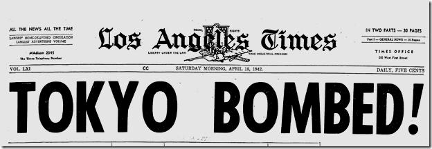 April 18 1942, Tokyo Bombed