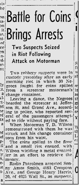 April 17, 1942. Streetcar