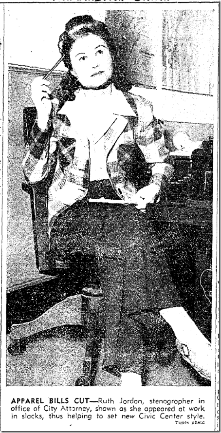 April 21, 1942, Women Wear Pants