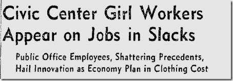 April 21, 1942, Women Wear Pants