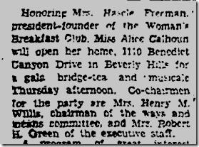 July 12, 1931, 1110 Benedict Canyon