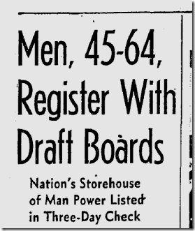 April 25, 1942, Draft Registration