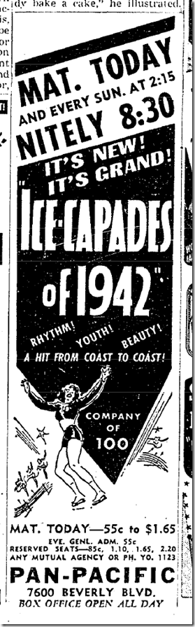 April 26, 1942, Ice Capades
