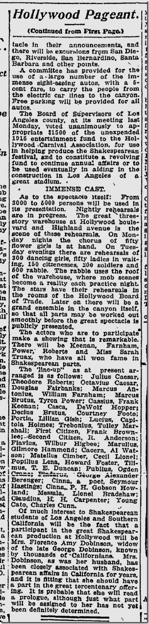 April 16, 1916, Shakespeare