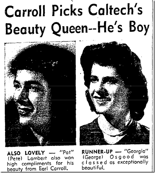 May 15, 1942, Drag Beauty Contest