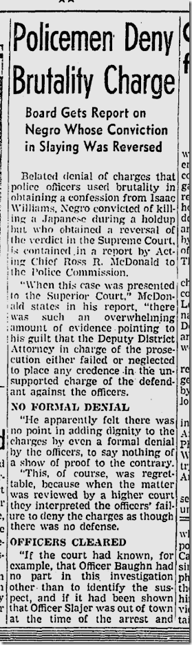 May 16, 1942, Brutality Case