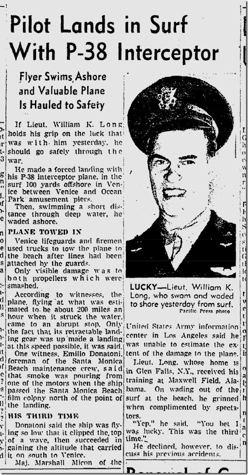 May 17, 1942, P-38