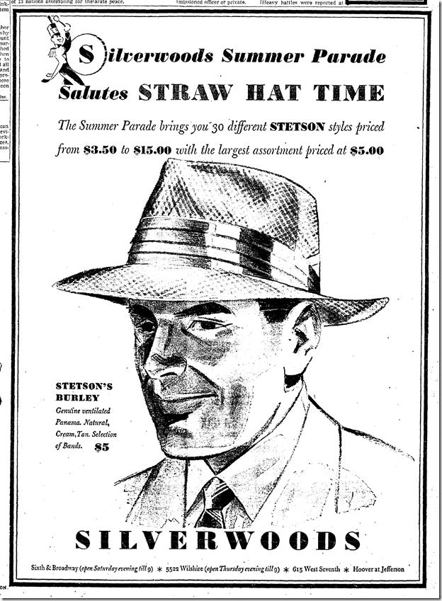May 19, 1942, Straw Hats