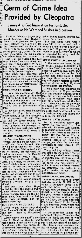 May 2, 1942, Rattlesnake James