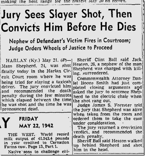May 22, 1942, Revenge Slayin