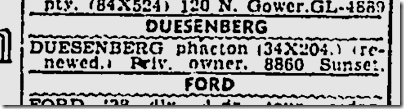 May 24, 1942, Duesenberg