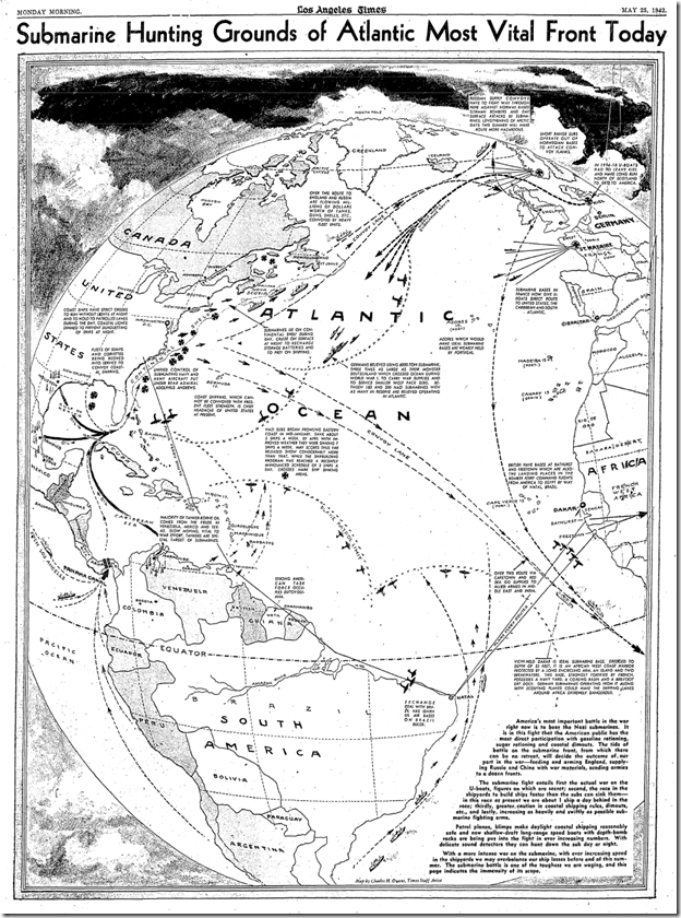 May 25, 1942, War Map